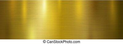 Ilustración de vectores de vector de origen de metal dorado