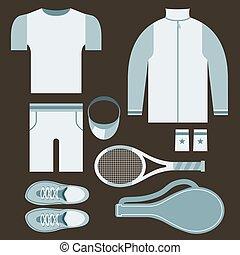 Ilustración de vectores de vectores de los tenistas de primera vista