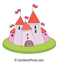 Ilustración de vectores del castillo de dibujos animados