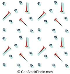 Ilustración de vectores del contenido de una caja de herramientas. Herramientas caseras arregladas en un patrón. Herramientas de un manitas