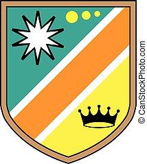 Ilustración de vectores del escudo real