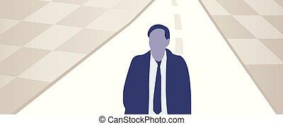 Ilustración de vectores del hombre en la carretera