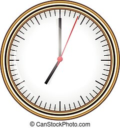 Ilustración de vectores del reloj