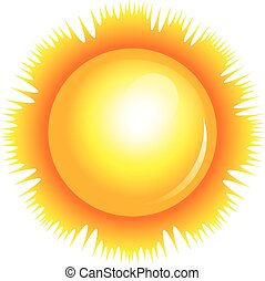 Ilustración de vectores del sol