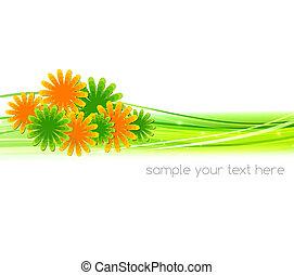 Ilustración de vectores, fondo abstracto con flor de verano