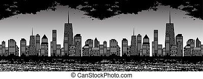Ilustración de vectores sin daños de las ciudades.