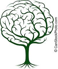 Ilustración del árbol cerebral