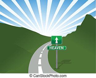 Ilustración del camino al cielo