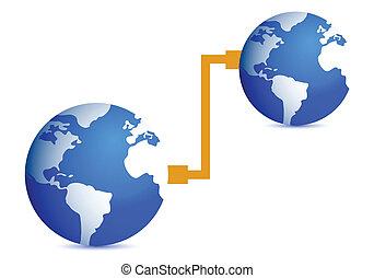 Ilustración del concepto de conexión