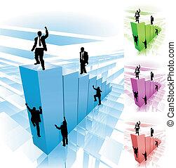Ilustración del concepto de la escalada
