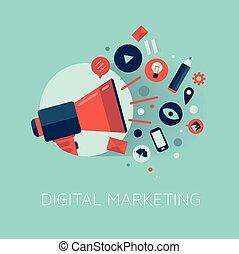 Ilustración del concepto de mercado digital