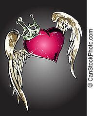 Ilustración del corazón tribal