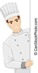 Ilustración del director de cocina