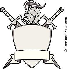 Ilustración del emblema de los caballeros