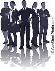 Ilustración del equipo de negocios