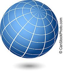 Ilustración del globo vector