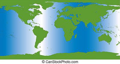Ilustración del mapa terrestre