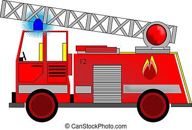 Ilustración del motor de incendio