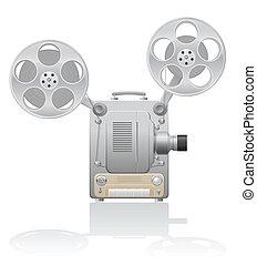 Ilustración del proyector de cine