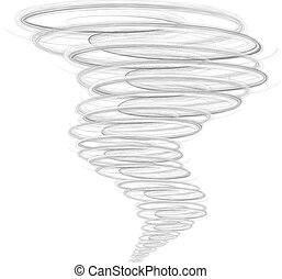 Ilustración del tornado