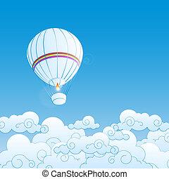 Ilustración del vector con globos de aire