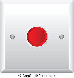 Ilustración del vector de botón rojo