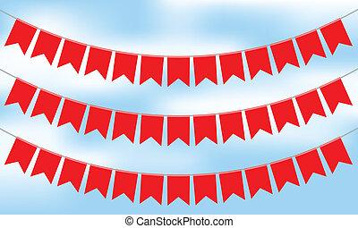 Ilustración del vector de Bunting rojo