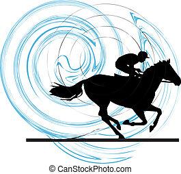 Ilustración del vector de caballos