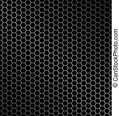 Ilustración del vector de fondo hexagonal