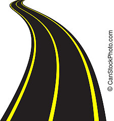 Ilustración del vector de la carretera