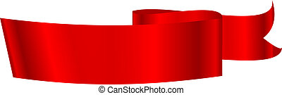Ilustración del vector de la cinta roja