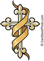 Ilustración del vector de la cruz