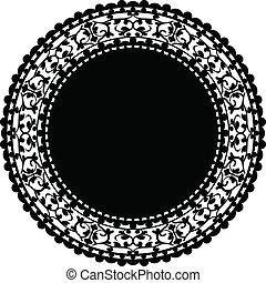 Ilustración del vector de la familia negra