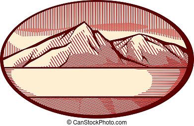 Ilustración del vector de la montaña