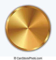 Ilustración del vector de la perilla de oro