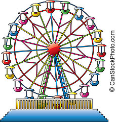 Ilustración del vector de la rueda de los ferris