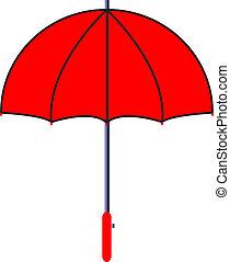 Ilustración del vector de paraguas rojo