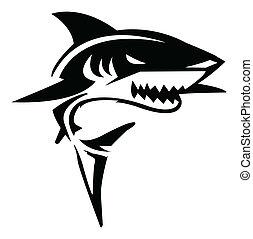 Ilustración del vector de tiburón