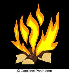 Ilustración del vector de un incendio