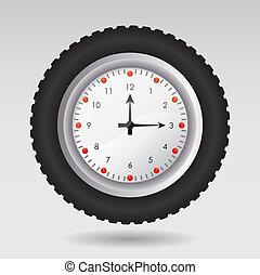 Ilustración del vector de un reloj