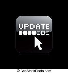 Ilustración del vector de un simple icono actualizado
