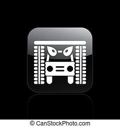 Ilustración del vector de un solo icono aislado