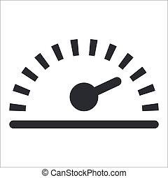 Ilustración del vector de un solo icono de velocidad aislado