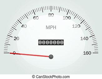 Ilustración del vector de un speedomete
