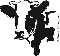 Ilustración del vector de una cabeza de vaca