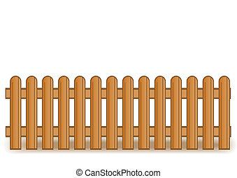 Ilustración del vector de una cerca marrón de madera