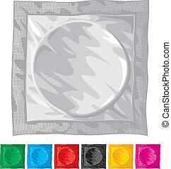 Ilustración del vector del condón