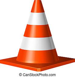 Ilustración del vector del cono de tráfico