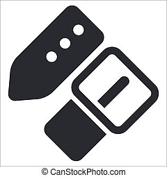 Ilustración del vector del icono de un solo cinturón aislado