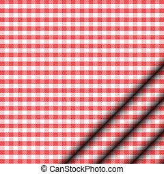 Ilustración del vector del mantel rojo